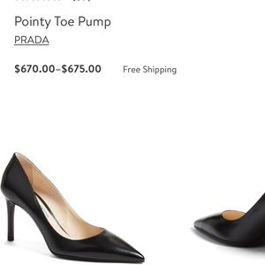 Prada pointy toe pumps new size 40